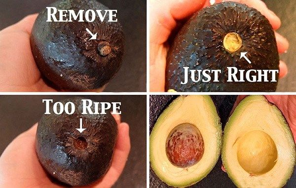 Determine Ripeness of Avocados with Stem