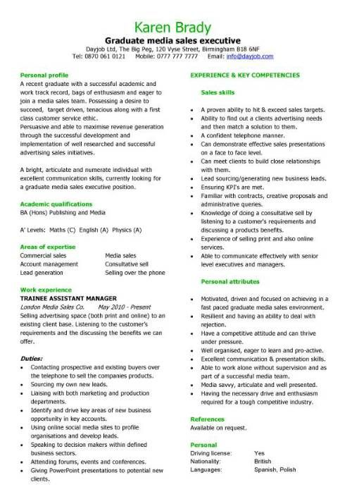 14 best cv images on Pinterest Resume ideas, Resume templates - media sales assistant sample resume