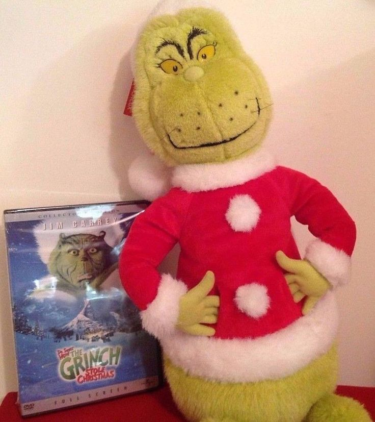 Lot 2pc How The Grinch Stole Christmas DVD Movie + Large Plush Gift Set - NEW #HallmarkCardsPlush