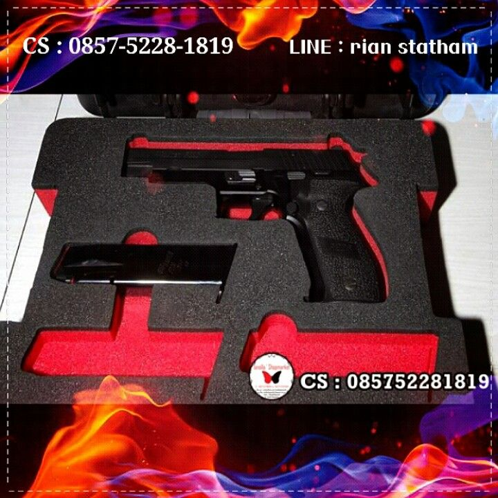 Airgun KWC P226-X5 blowback  Description  Hop-Up : ADJUSTABLE Weight : 1156g Length : 225 mm Capacity : 18 rds Power : 350-450 fps Power Source : CO2 Use: 4,5mm bb Blowback : YES Material: Full metal Shooting Mode : Semi Auto  ⊙ Harga : Sms or Line  ⊙ minat? Sms : 0857-5228-1819 or Line : rian statham .. ⊙ Harga belum termasuk Ongkir. ⊙ FOR SERIOUS BUY ONLY !! ⊙ Transfer via : - BCA : a.n Olla - MANDIRI : a.n Olla  Happy shopping I`shop~ <3
