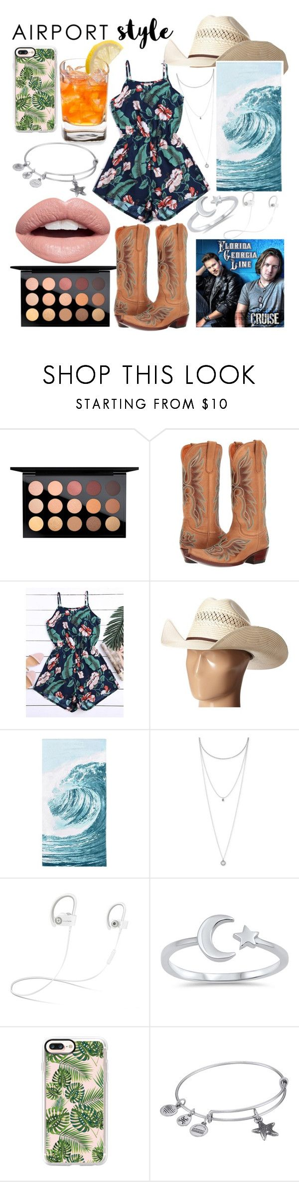 """""""Only in the South"""" by whodatgirl ❤ liked on Polyvore featuring MAC Cosmetics, Old Gringo, M&F Western, PBteen, Lucky Brand, Beats by Dr. Dre, Casetify, Alex and Ani and Nevermind"""