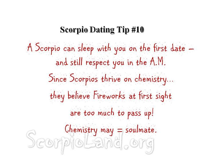 difference between scorpio and dating