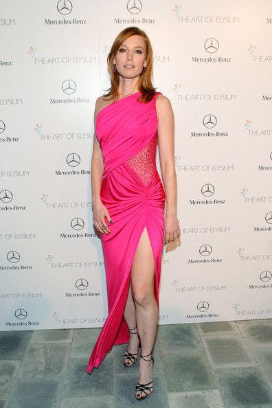 Alicia Witt One Shoulder Dress