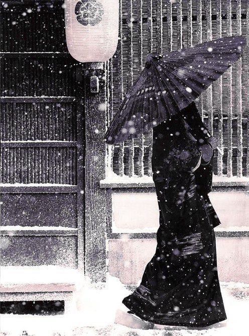 Winter scene. Japan