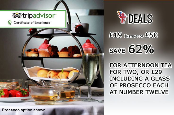 £19 INSTEAD OF UP TO £50 FOR AFTERNOON #TEA FOR TWO, OR £29 INCLUDING A #GLASS OF #PROSECCO EACH AT NUMBER TWELVE, #BLOOMSBURY - #SAVE UP TO 62% http://www.grabdeals.today/uk-en/deal_detail/78303