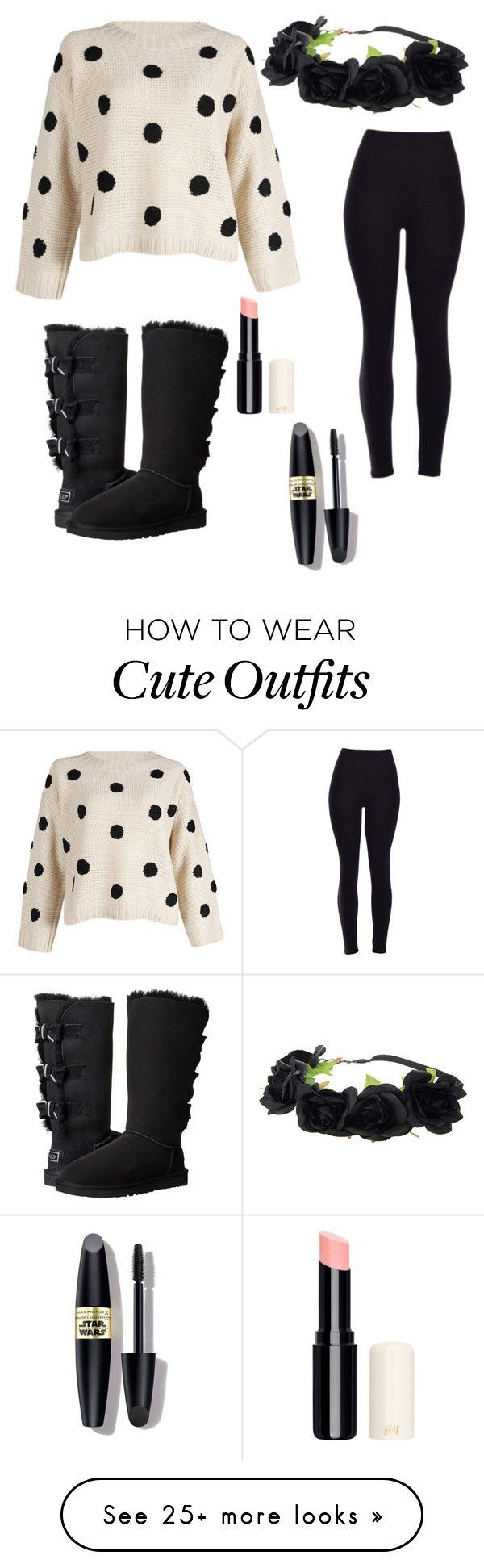 """Cute and comfy! Ps this is my dream outfit"" by cassiegirl206 on Polyvore featuring UGG Australia, Max Factor, women's clothing, women's fashi…"