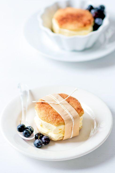 Snickerdoodle and Lemon Ice Cream Sandwiches