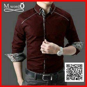 kemeja pria slim fit batik mr word MTFA26 2