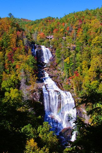 Whitewater Falls near Cashiers & the NC/SC border, Highest North Carolina Waterfall.  This is a beautiful view & a nice day hike to the bottom of the falls where you can climb on the boulders in the river.