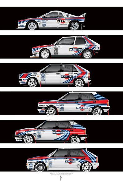 Lancia Martini rally cars by Ricardo Santos