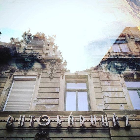 Abstract Double Exposure Budapest Square by CraigHullPhotography