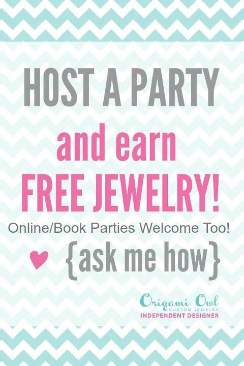 Host a Party (Home, Online &/or Book Party...all welcome) & receive FREE Origami Owl!!! Come on you know you want FREE Origami Owl! #5229 Staci Longest Www.stacilongest.origamiowl.com