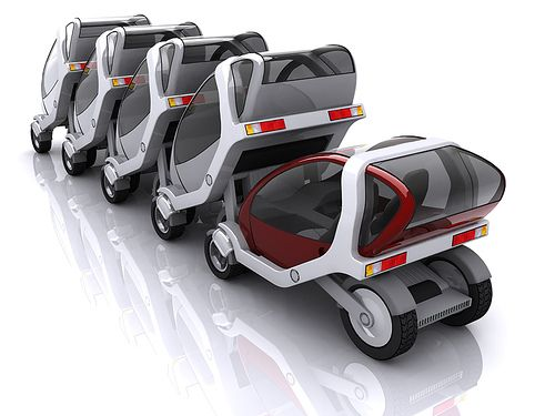 City Car Network: Stackable vehicles for dense urban areas