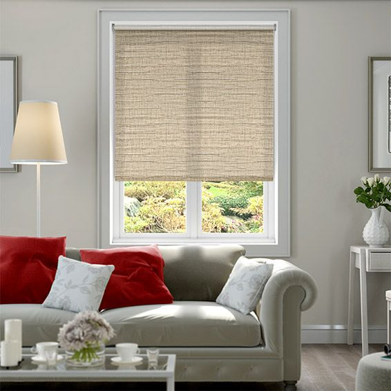 Ruffle Neutral Roller Blind