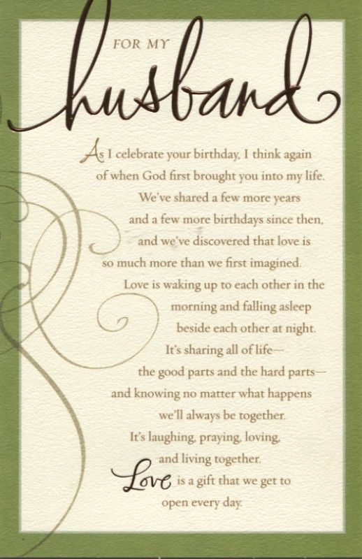 25 best ideas about Husband Birthday Wishes – Husband 40th Birthday Card