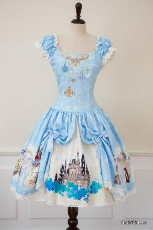 Cinderella dress! - I love the 'stage curtain' effect- you could put any kind of image in there!