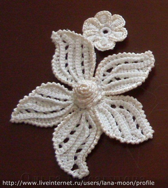 Irish Crochet Flower ( tutorial )