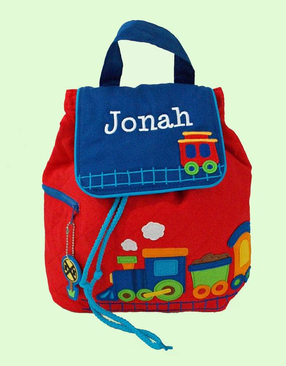 Personalized Stephen Joseph Quilted Backpack by DeerpathDesigns on Etsy.com
