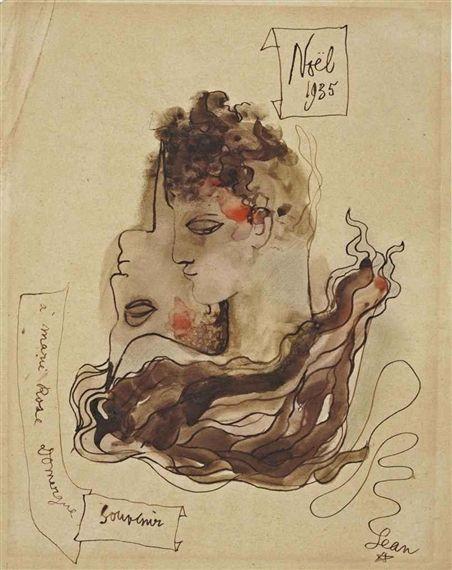 SANS TITRE (HOMME/FEMME) By Jean Cocteau