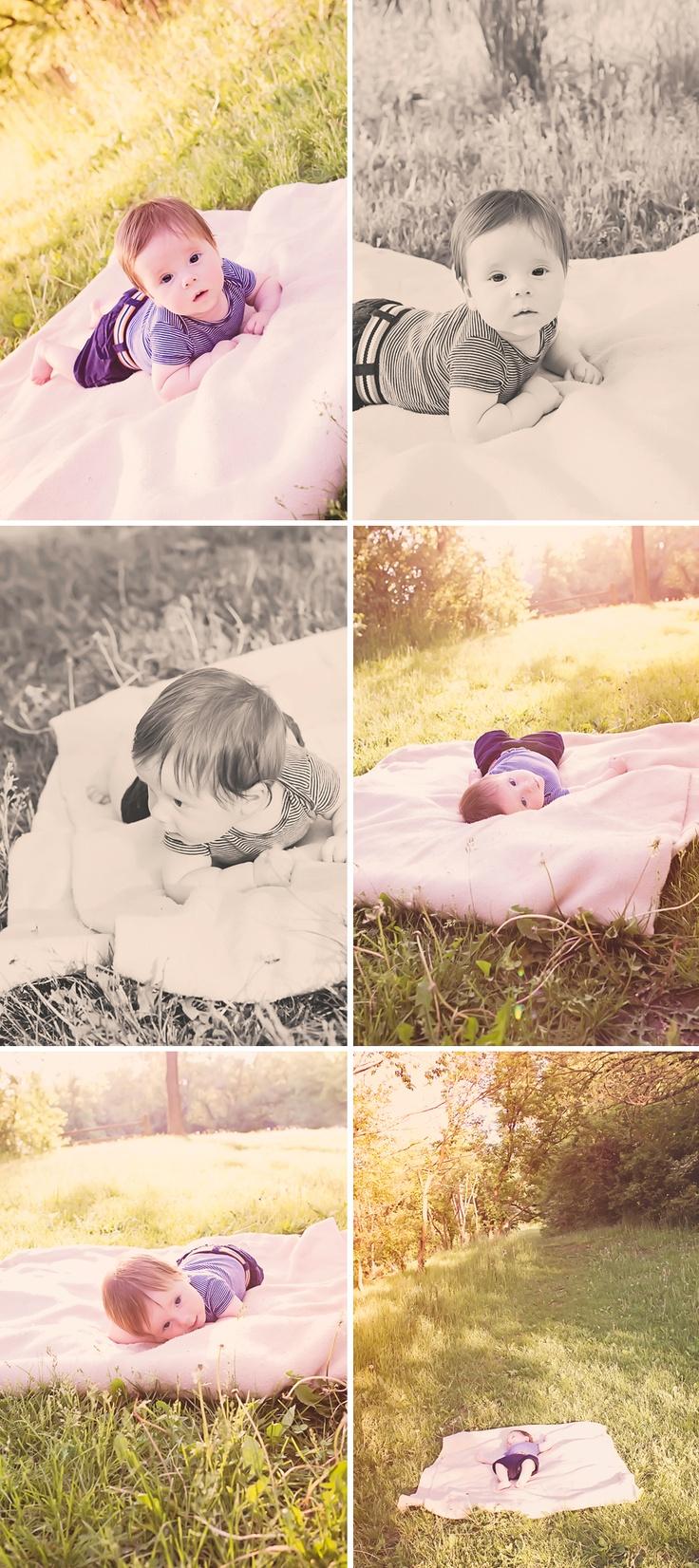 4 Month Photos Little Boy - Deanne Mroz Photography