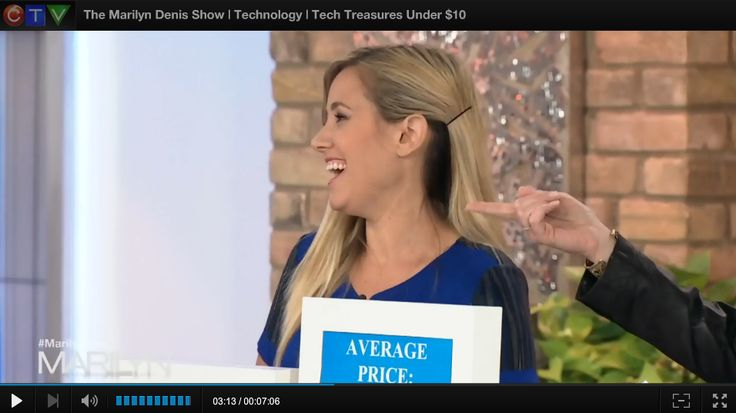 Tech on a Dime  The Marilyn Denis Show | Technology | Tech Treasures Under $10 Tuesday, September 23, 2014 We all love technology, but it's getting more and more expensive to get the latest gadgets. Web and technology expert, Amber MacArthur showcases a few of the latest bargain buys that won't break the bank.