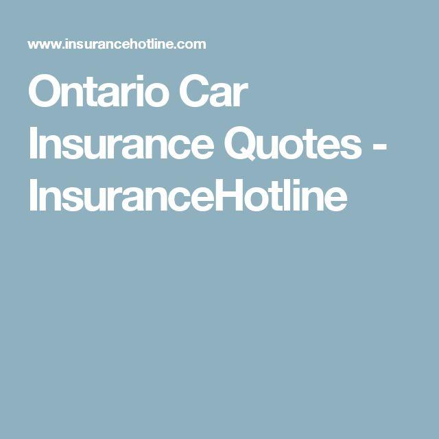 Ontario Car Insurance Quotes - InsuranceHotline