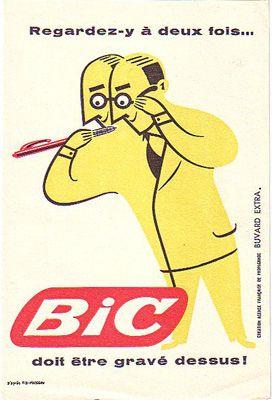 Vintage Advertising Poster | Bic