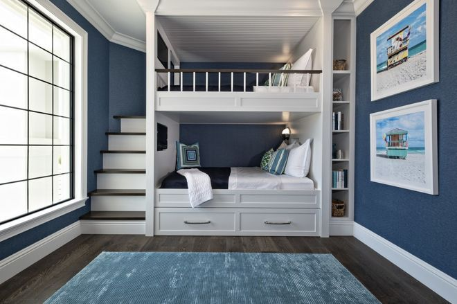 Inspiration For Child S Bedroom Calming Shades Of Navy White And