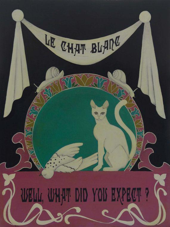 Le chat blanc by Virginia Diakaki