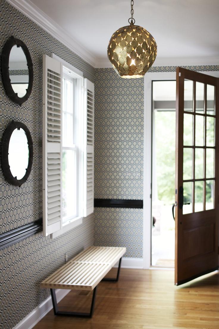 Foyer Inspiration Utilize A Stunning Light Fixture As A