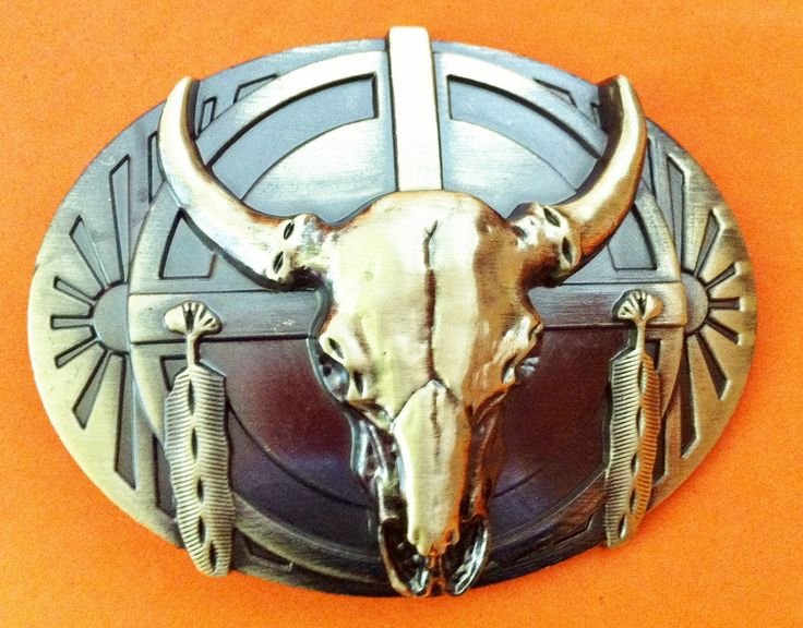 Western Texas Longhorns Cowboy Men's Rodeo Belt Buckles