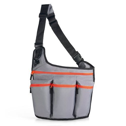 Diaper bags for dads | Baby gear essentials | Diaper Dude Messenger Diaper Bag for Dads in Gray with Orange Zippers is an extremely popular dads diaper bag in sporty design and great functionality | Find more at http://diaperbagsblog.com/diaper-bag-for-dads