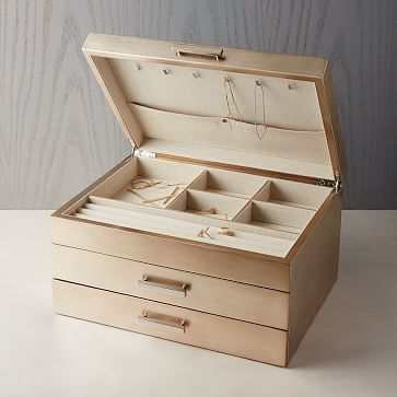 Mid-Century Box, Champagne Lacuqer, Grand at West Elm – Jewelry & Display Boxes – Home Decor – Jewelry Accessories