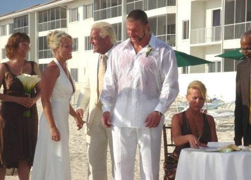ric flairs wedding to tiffany vandermark where paul