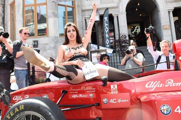 FEMEN au Grand Prix