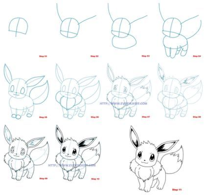 How to draw eevee pokemon