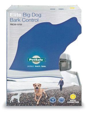 DOG TRAINING EQUIPMENT - ELITE BIG DOG BARK CONTROL COLLAR