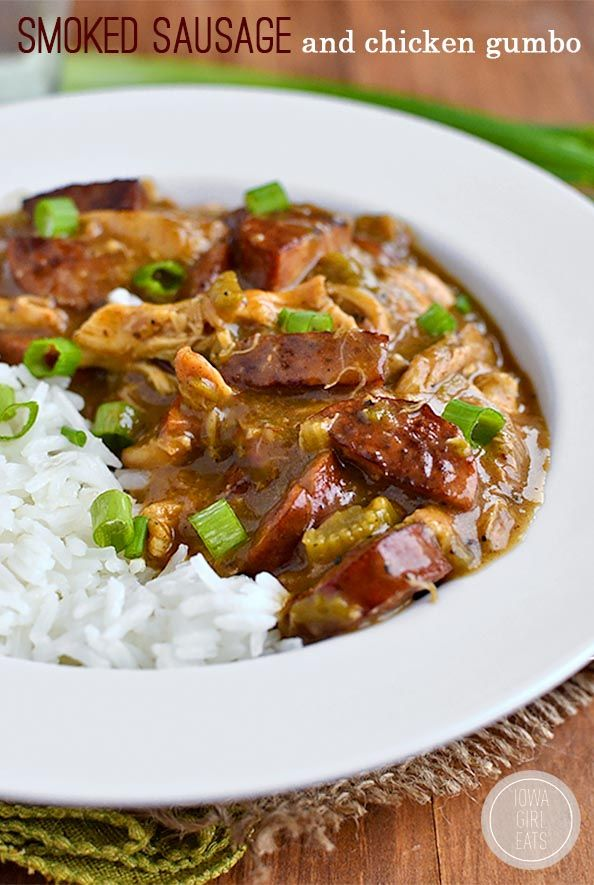 Smoked Sausage and Chicken Gumbo is a classic taste of the south.