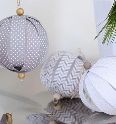 Paper ball ornaments // Gömb alakú karácsonyfadíszek papírból  // Mindy - craft & DIY tutorial collection