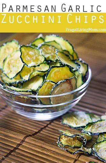 Parmesan Garlic Zucchini Chips- These Parmesan Garlic Zucchini Chips do not disappoint, they are awesome.