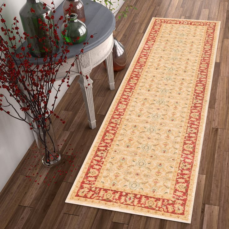 "Well Woven Vienna Traditional Oriental Country Soft Eclectic Floral Ivory Runner Rug (2'3 x 7'3) (Ivory), Size 2'7"" x 7'3"""