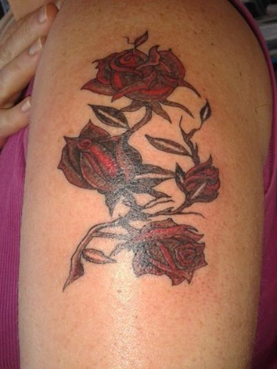 Roses with thorns tattoo tattoo ideas pinterest for Rose with thorns tattoo