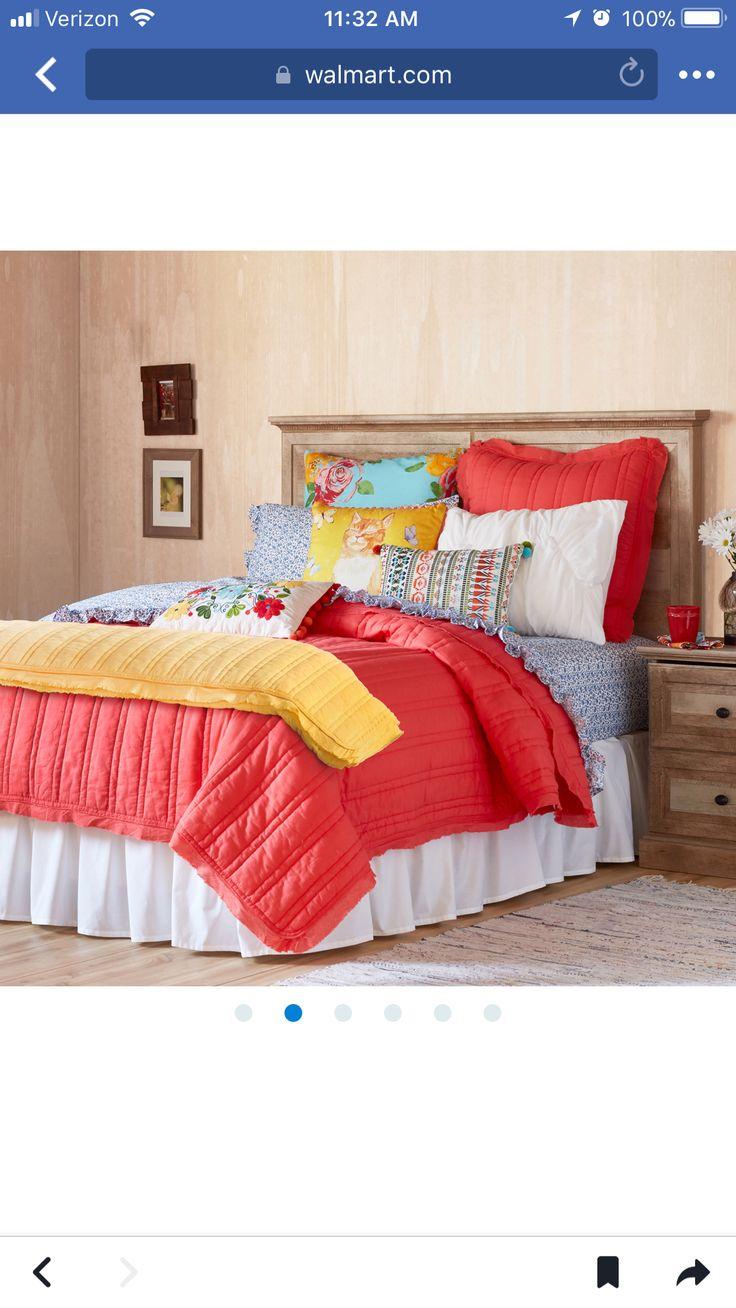 walmart  pioneer woman bedding  woman bedroom master