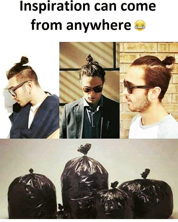 Bwahahaha Bun Manbun Ridiculous Garbage Bag Bags Knot