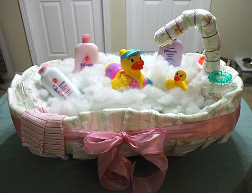 Baby Bath Tub Diaper Cake Tutorial   10 Creative Diaper Cakes For A Baby  Shower.