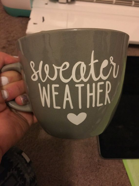 Sweater Weather Mug//Cute Mug//Funny Mug//Mug by OurCupofCoffee