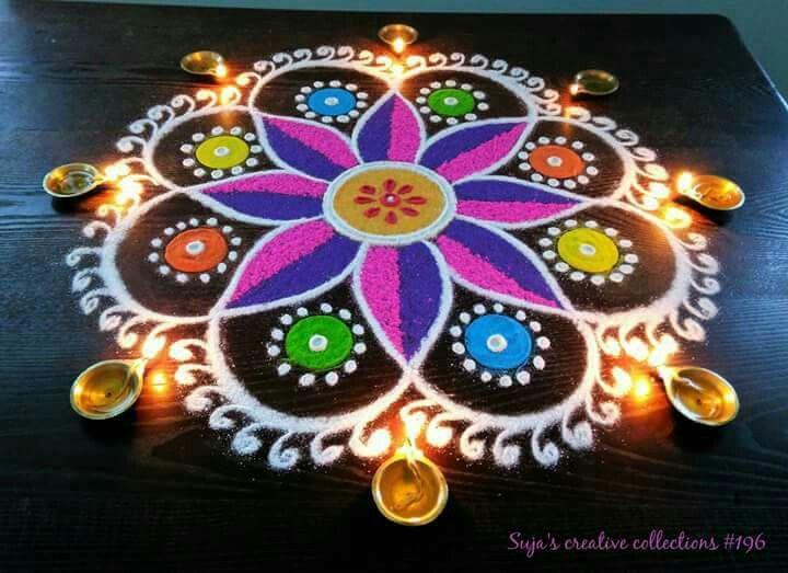 Diwali Rangoli Sacred Geometry