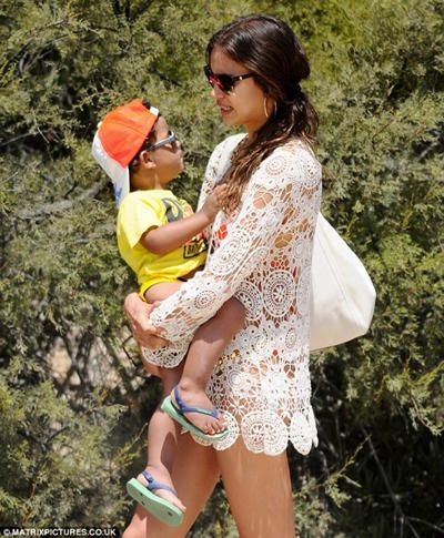 Irina Shayk with Cristiano Ronaldo JR.