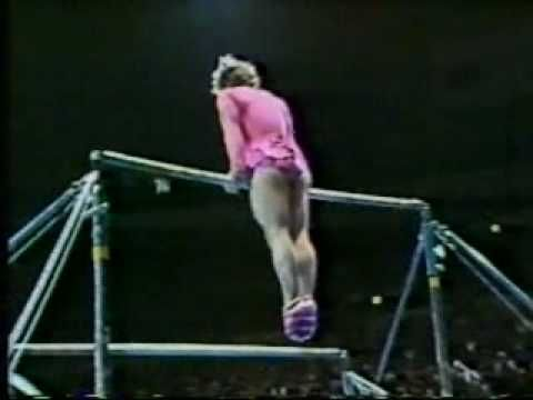 This is the greatest thing ever!!!! When a man does women's gymnastics... the funniest thing you'll see all day.