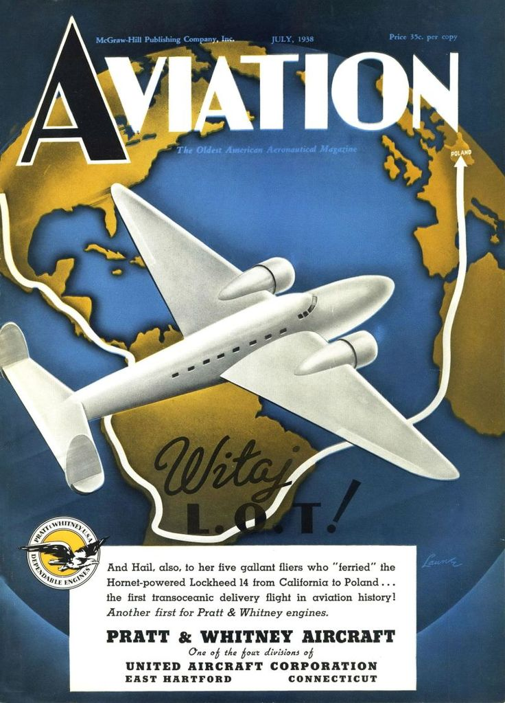 The first transoceanic delivery flight! Aviation, July 1, 1938.